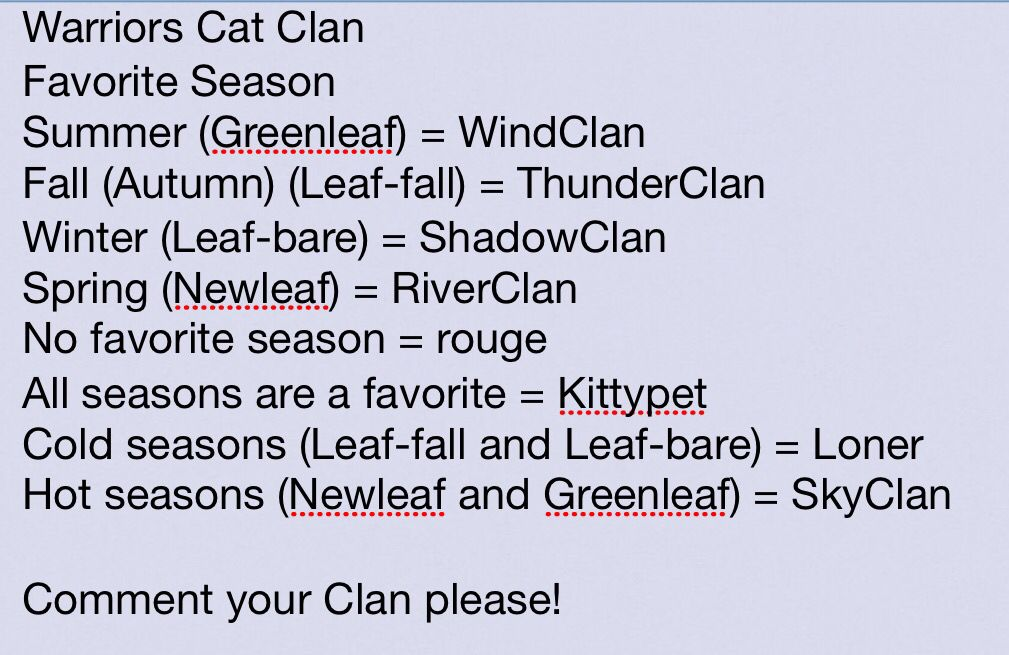 Clan generator | WARRIORS | Warrior cats clans, Warrior cats
