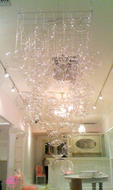 Diy bubble chandelier xmas ornaments chandeliers and light bulb diy bubble chandelier aloadofball Images