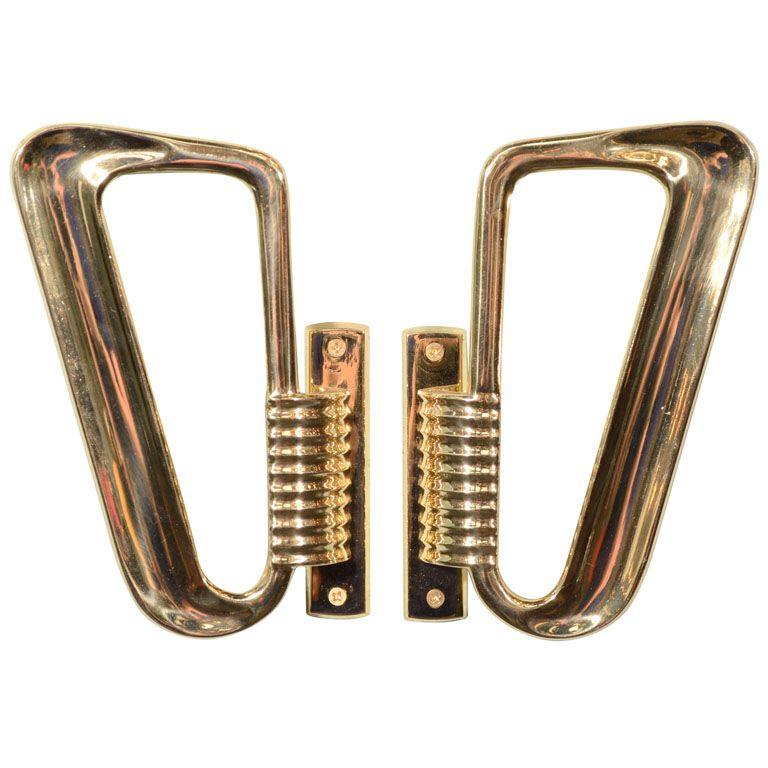 1930 S Art Deco Door Handles Door Handles Copper Plated Brass Art Deco Door Door Handles Furniture Handles