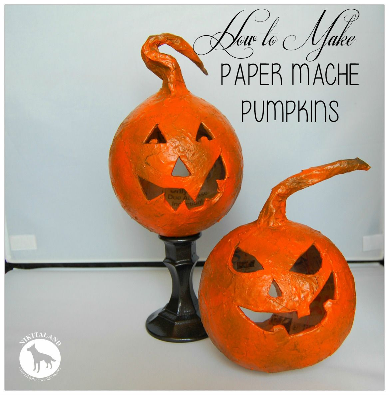HELLO FALL! How to Make Paper Mache Pumpkins   Craft