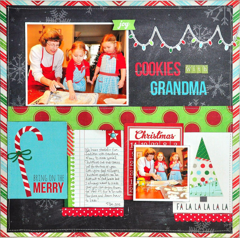 Scrapbook ideas grandma - Cookies With Grandma New Simple Stories December Documented Scrapbook Com