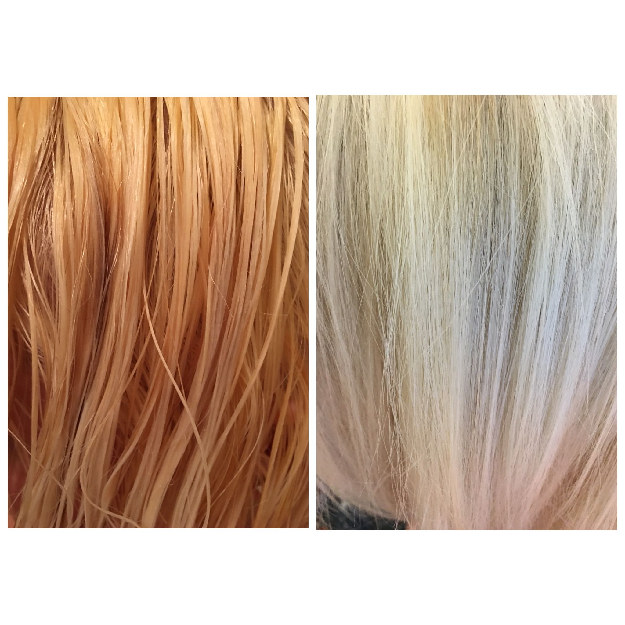Before And After T18 Wella Toner Tone Orange Hair Hair Color