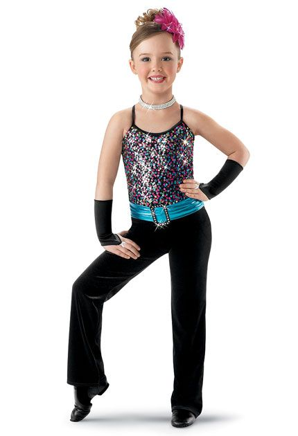 Velvet Pants with Metallic Belt; Weissman Costumes