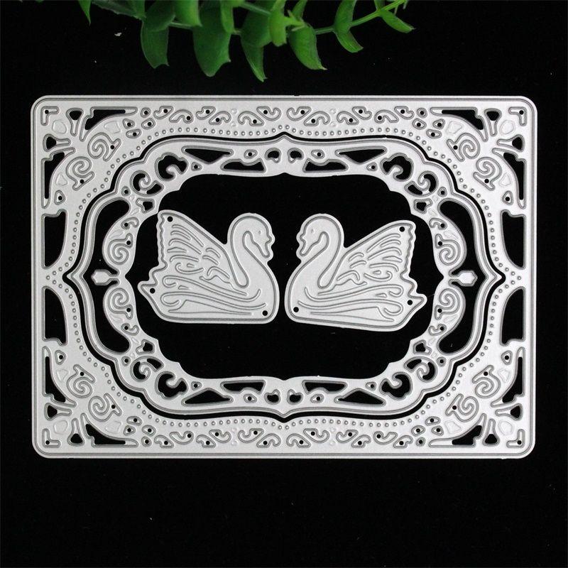 Swan Cutting Dies Stencil DIY Scrapbooking Album Paper Card Embossing Craft