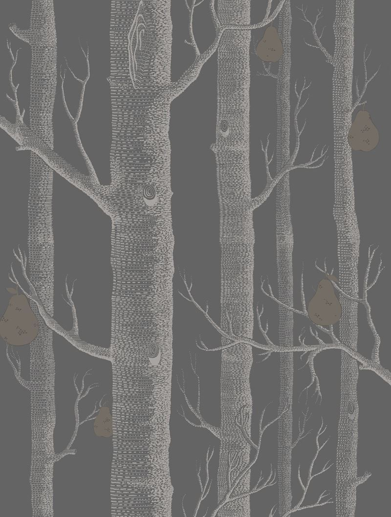 Cole Son Wallpaper 95 5031 Cs Woods Pears Gilver Black Cole And Son Wallpaper Cole And Son Wood Wallpaper