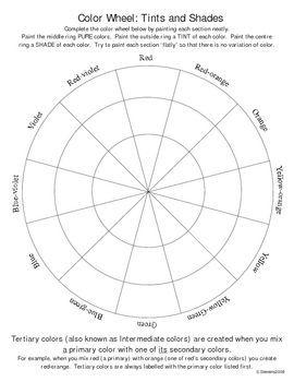 Color wheel Color wheel lesson, Color wheel worksheet