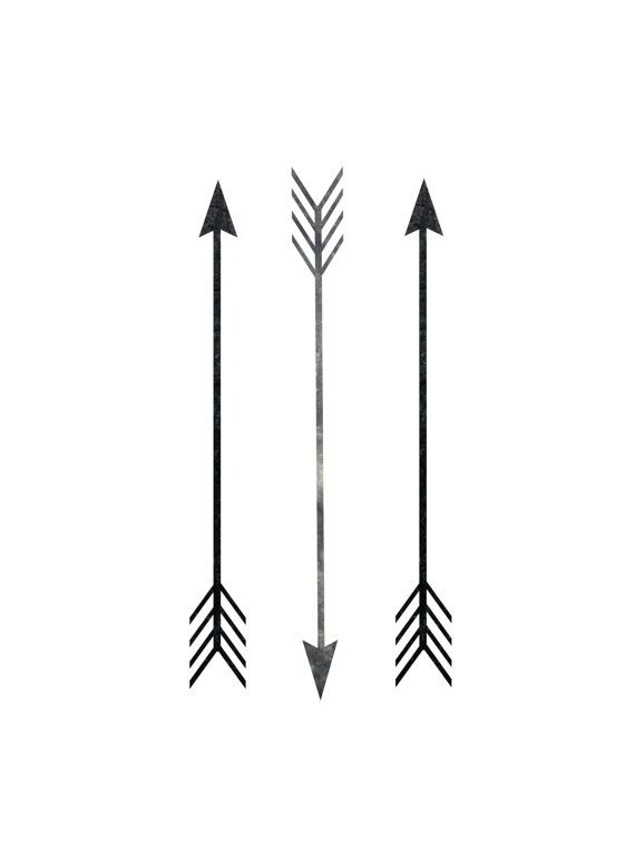 Printable Art Arrow Print Arrow Decor Black And White Three Straight Arrows Art Downloadable Arrow Print Wall Arrow Tattoos Design My Tattoo Arrow Print