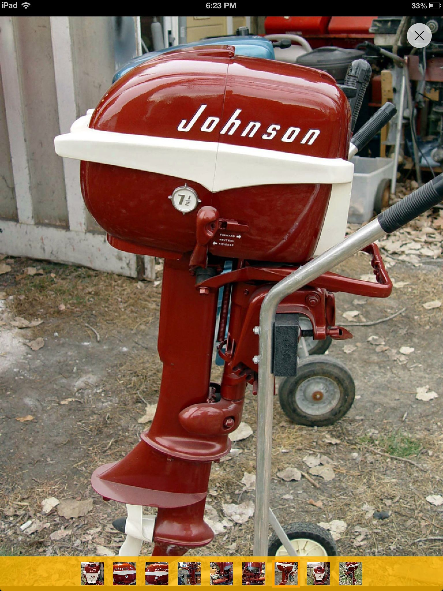 Johnson outboard motor - 1957 7.5 HP