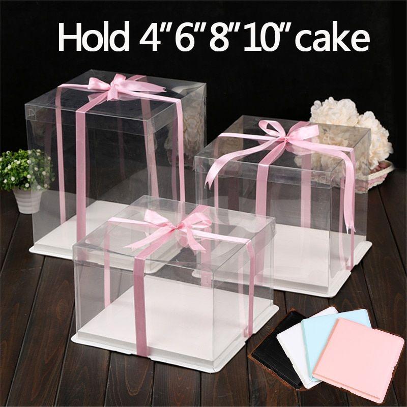 4 setlot 6810 inch clear plastic cake holder decorating