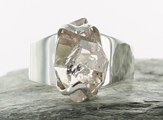 bague diamant d'herkimer