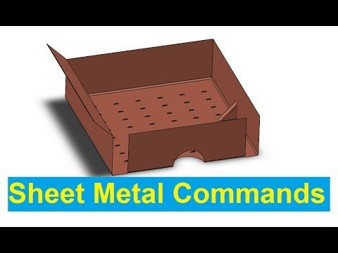 Solidworks Tutorial Introduction To All Commands In Sheet Metal Com Imagens Tutoriais