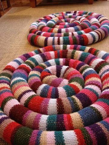 Тряпичные коврики своими руками фото 138