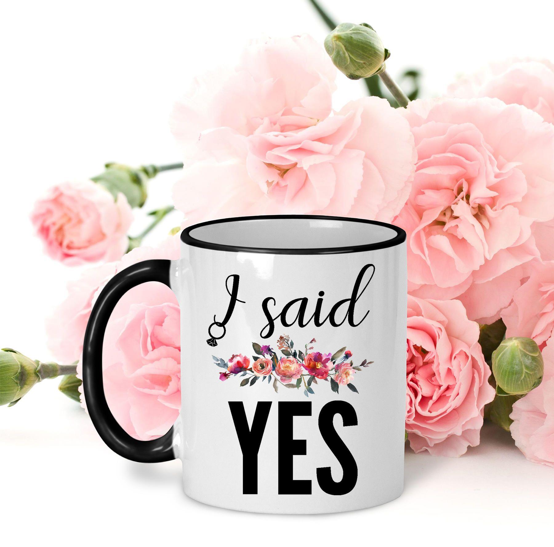 Engagement Mug, I Said Yes, Engagement Gift, Bride to Be Mug, Bridal ...