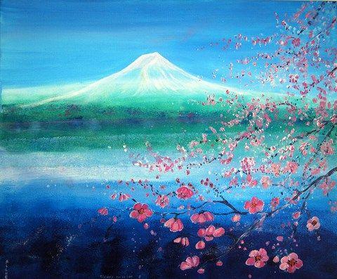 Poster feng-shui Spring on the Lake artist Ellhëa