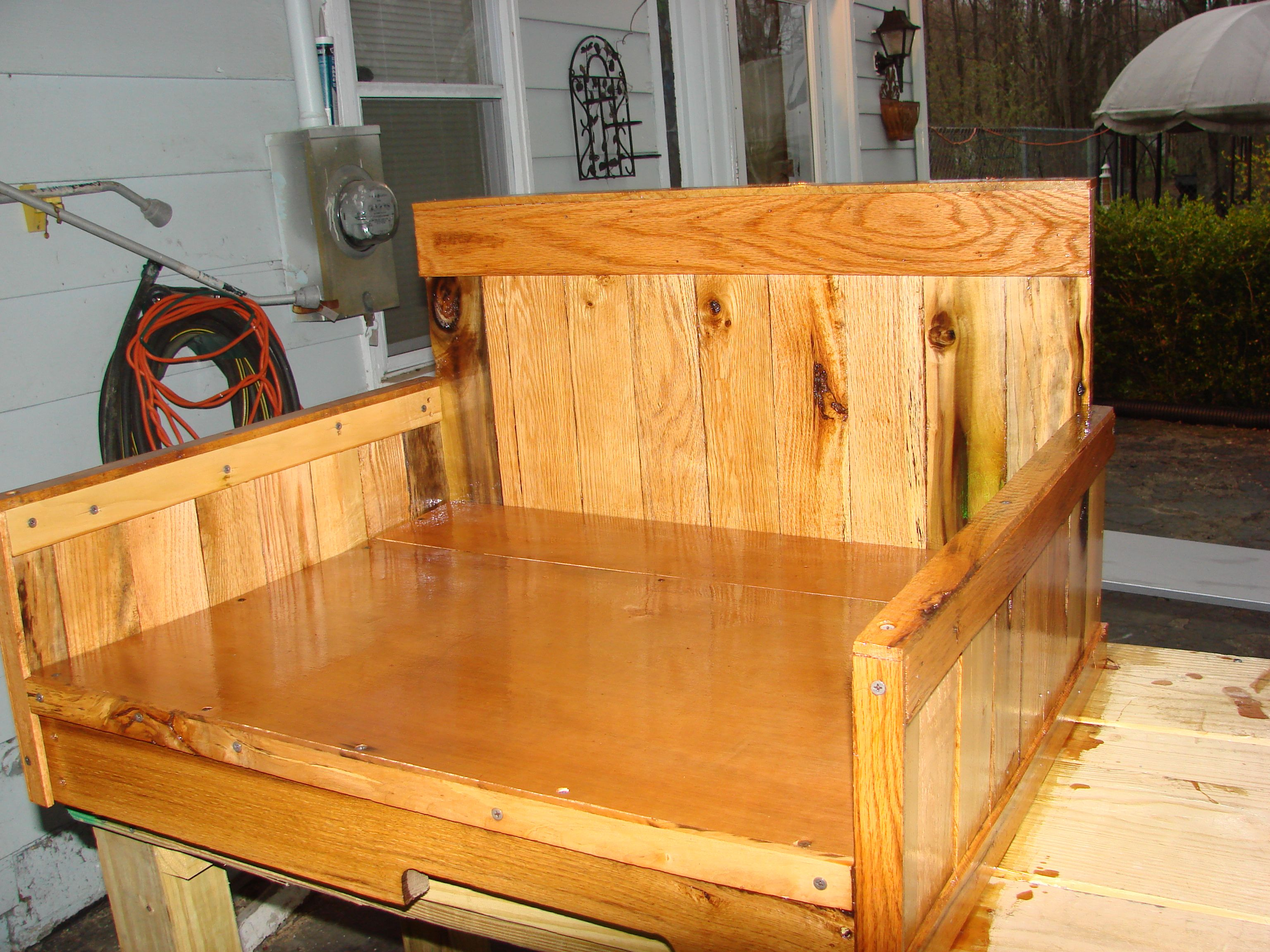 Dog bed made out of pallets pallet crafts pinterest for Beds made out of pallets