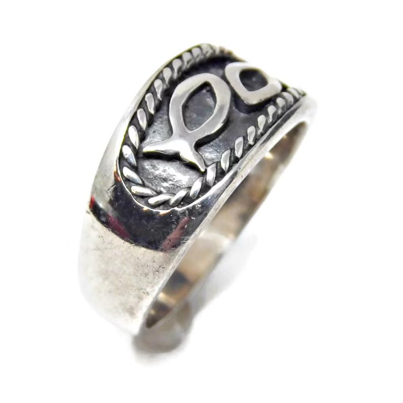 Sterling Silver Christian Ring Christian Fish Symbol Silver | Etsy