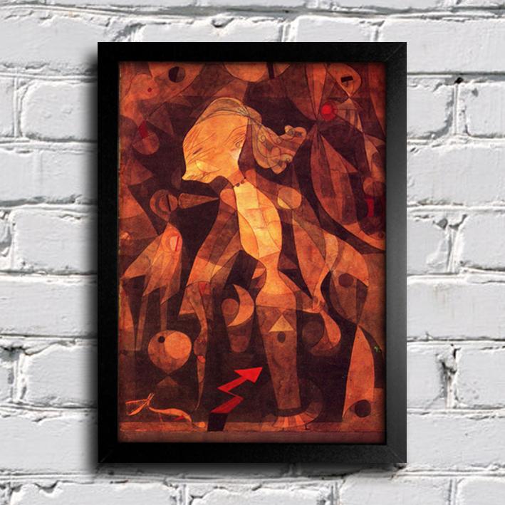 Paul Klee - A Young Ladys Adventure — Encadreé Posters