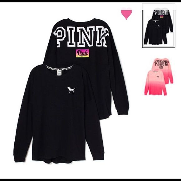 PINK Crew Brand new. Size small I DONT TRADE PINK Victoria's Secret Tops Tees - Long Sleeve