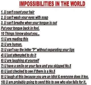 Impossibilities Of The World