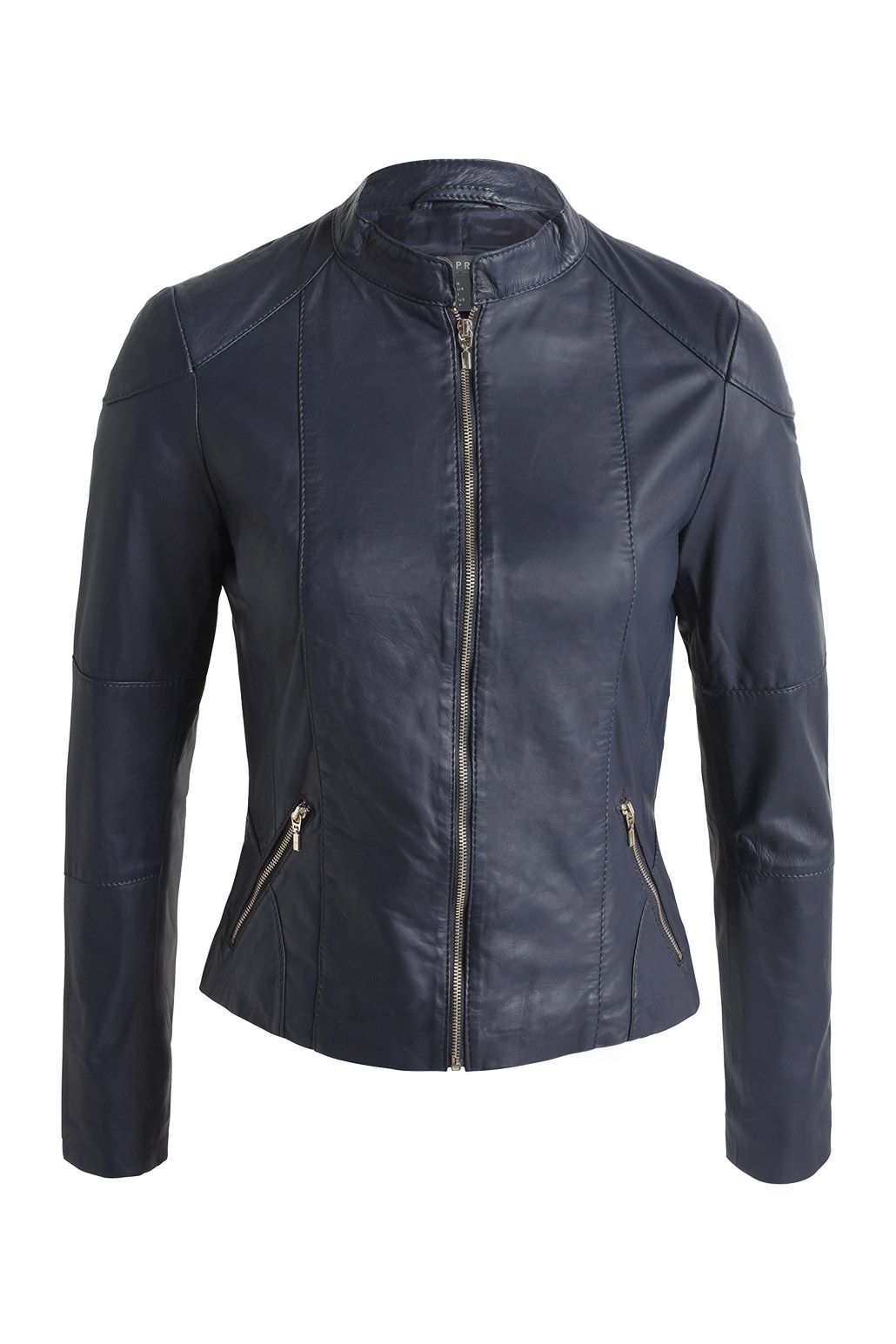 Esprit : Veste en cuir à zips à acheter sur la Boutique en ligne