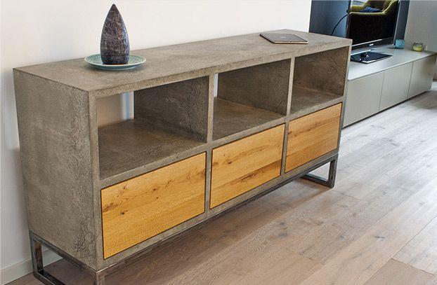 Sideboard aus weinkisten  Halb offen, halb geschlossenes Sideboard | Sideboard Holzwurm ...