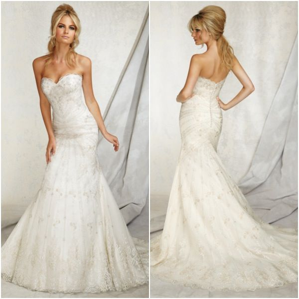 A New Take On The Sweetheart Neckline With Wedding Dresses