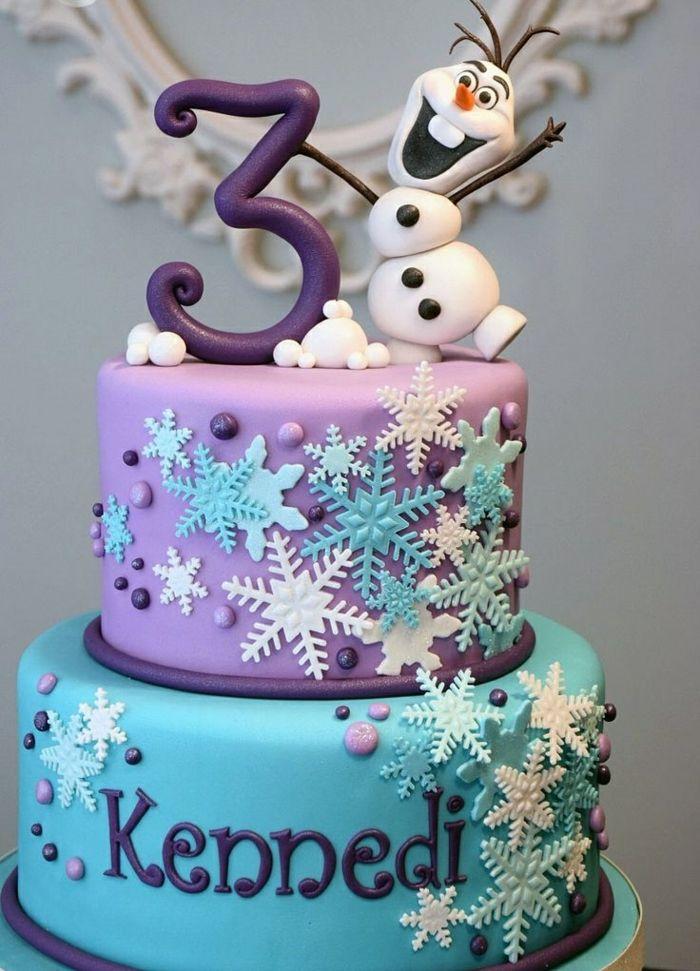 decoration gateau anniversaire reine des neiges