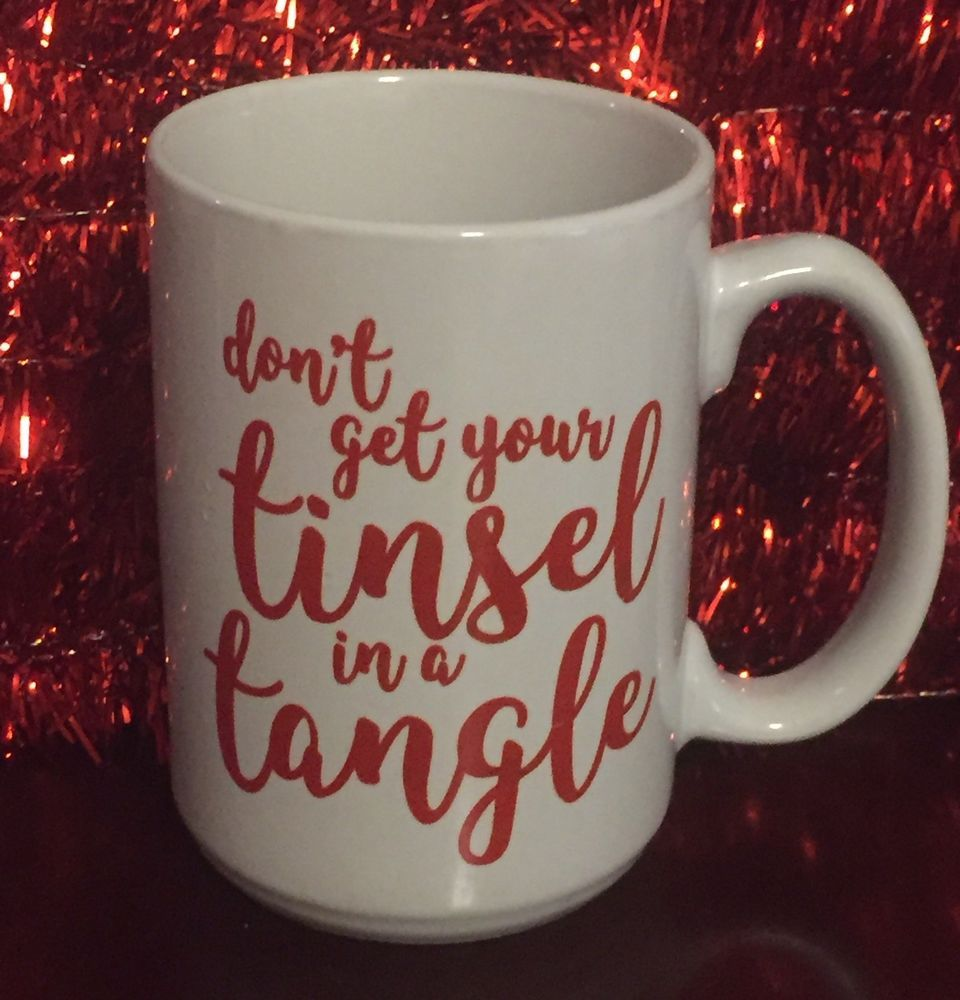 Don T Get Your Tinsel In A Tangle Holiday Merry Christmas Home Decor Red Silver Glitter Wood Sign Curly Bow Christmas Signs Wood Christmas Decor Diy Christmas Diy
