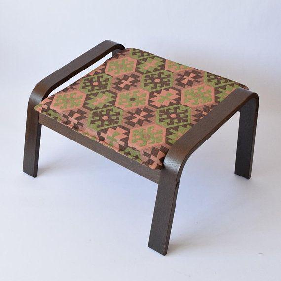 Fabulous Poang Chair Cover Kilim Ottoman Bohemian Furniture Poang Ibusinesslaw Wood Chair Design Ideas Ibusinesslaworg