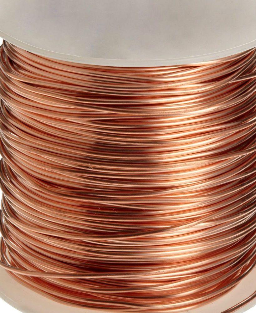 Premium 99 9 Pure Bare Copper Wire Dead Soft Round 12 28 Gauge Made In Usa Copper Wire Pure Products Copper