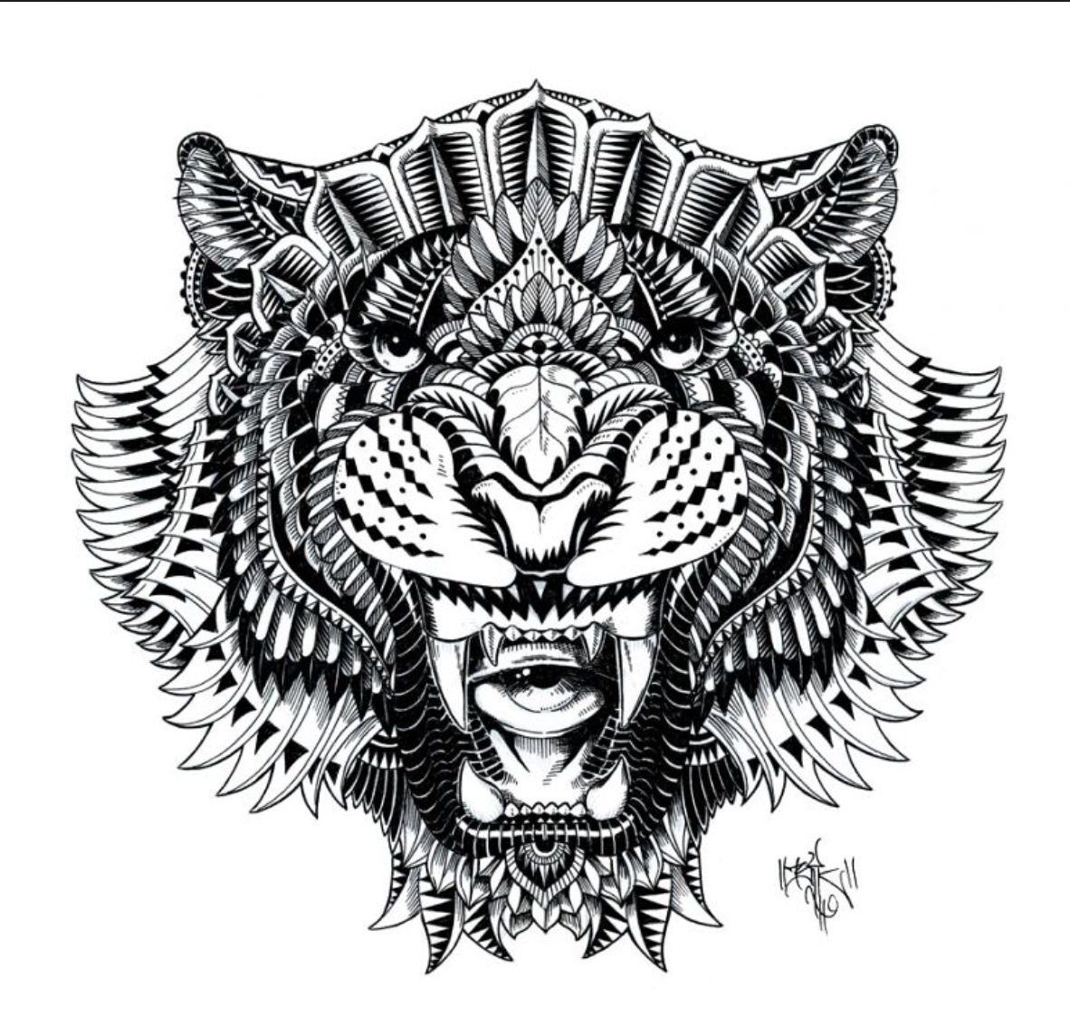 Abstract Animals Marquesan tattoos, Lion tattoo design, Art