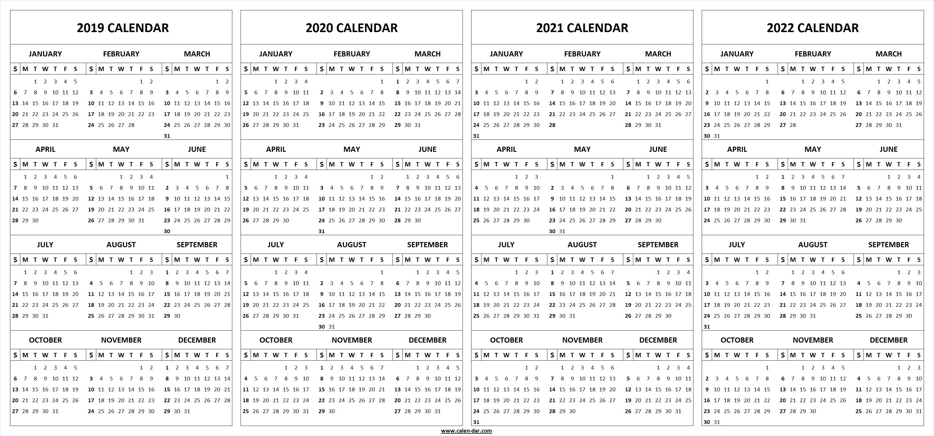 2021-2022 Calendar Excel Background