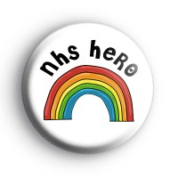 Rainbow Nhs Hero Badge In 2020 Button Badge Badge How To Make