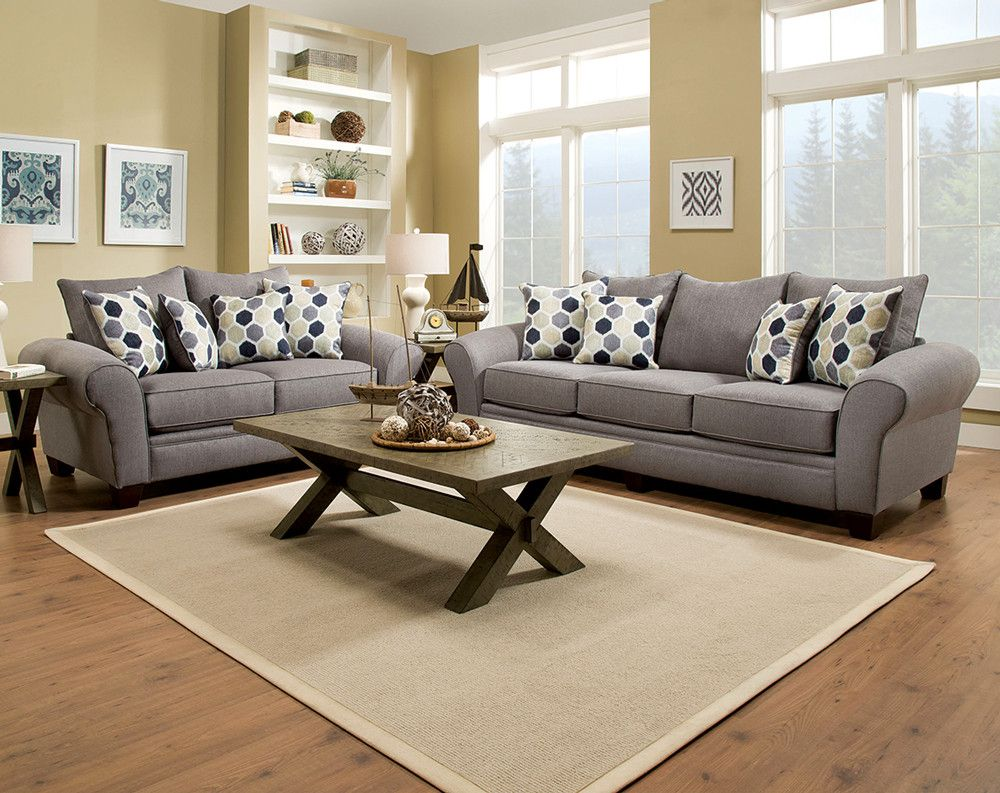 Awesome The Heritage Gray Sofa And Loveseat Set Is A Upholstered In Interior Design Ideas Clesiryabchikinfo