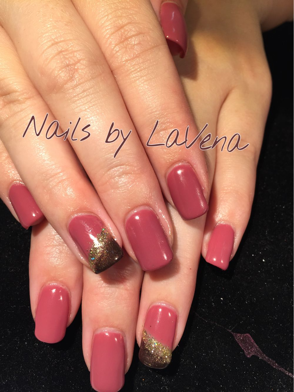 Beautiful natural nails, with hard gel overlay and gel polish ...