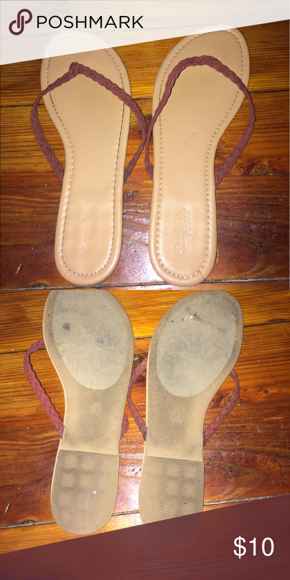 Flip flops! Cute flip flops barely worn Shoes