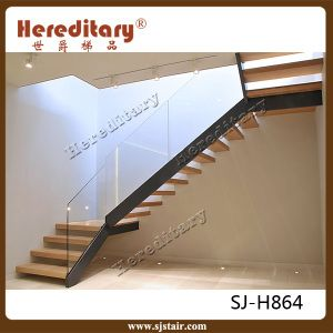 Prefab Steel Wood Straight Staircase / Arc Stairs /Spiral Stair From Shijue  Metal Products Co