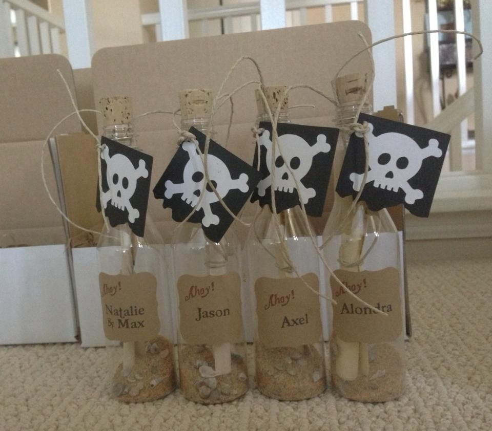 Fantastic Pirate Party Invitations In A Bottle Mold - Invitation ...