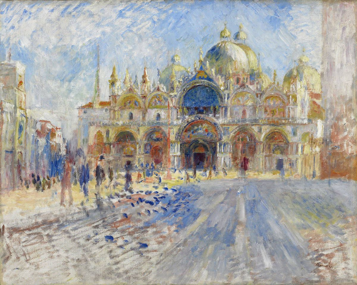 Pierre-Auguste Renoir (French 1841-1919). Piazza San Marco, Venice, 1881. Oil on canvas. 25 3/4 x 32 in. (65.4 x 81.3 cm).