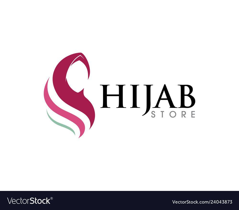 Muslimah Hijab Logo Template Vector Illustration Design Download A Free Preview Or High Quality Adobe Illu Hijab Logo Branding Design Logo Fashion Logo Design
