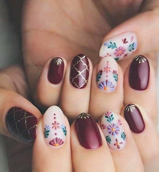 50 Trendy Fall Nail Art Design For 2019 En 2020 Ongles Vernis