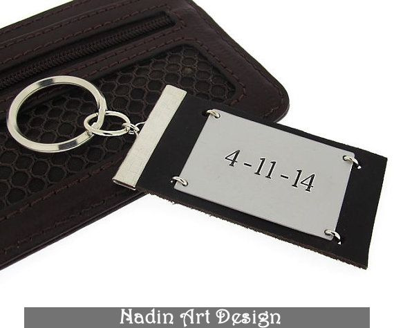 Datum Schlüsselanhänger mit Gravur / Geschenk von ...
