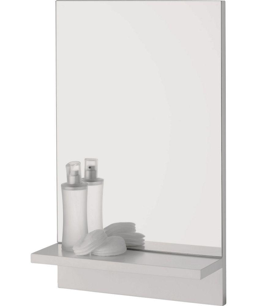 Buy Rectangular Bathroom Mirror With Wooden Shelf At Argoscouk