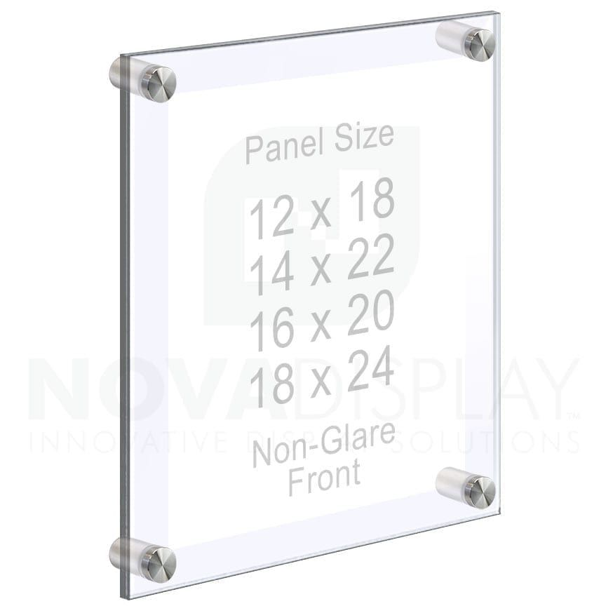 Large Format Acrylic Poster Frames With Non Glare Front On Standoffs In 2020 Floating Acrylic Frame Frames On Wall Acrylic Photo Frames
