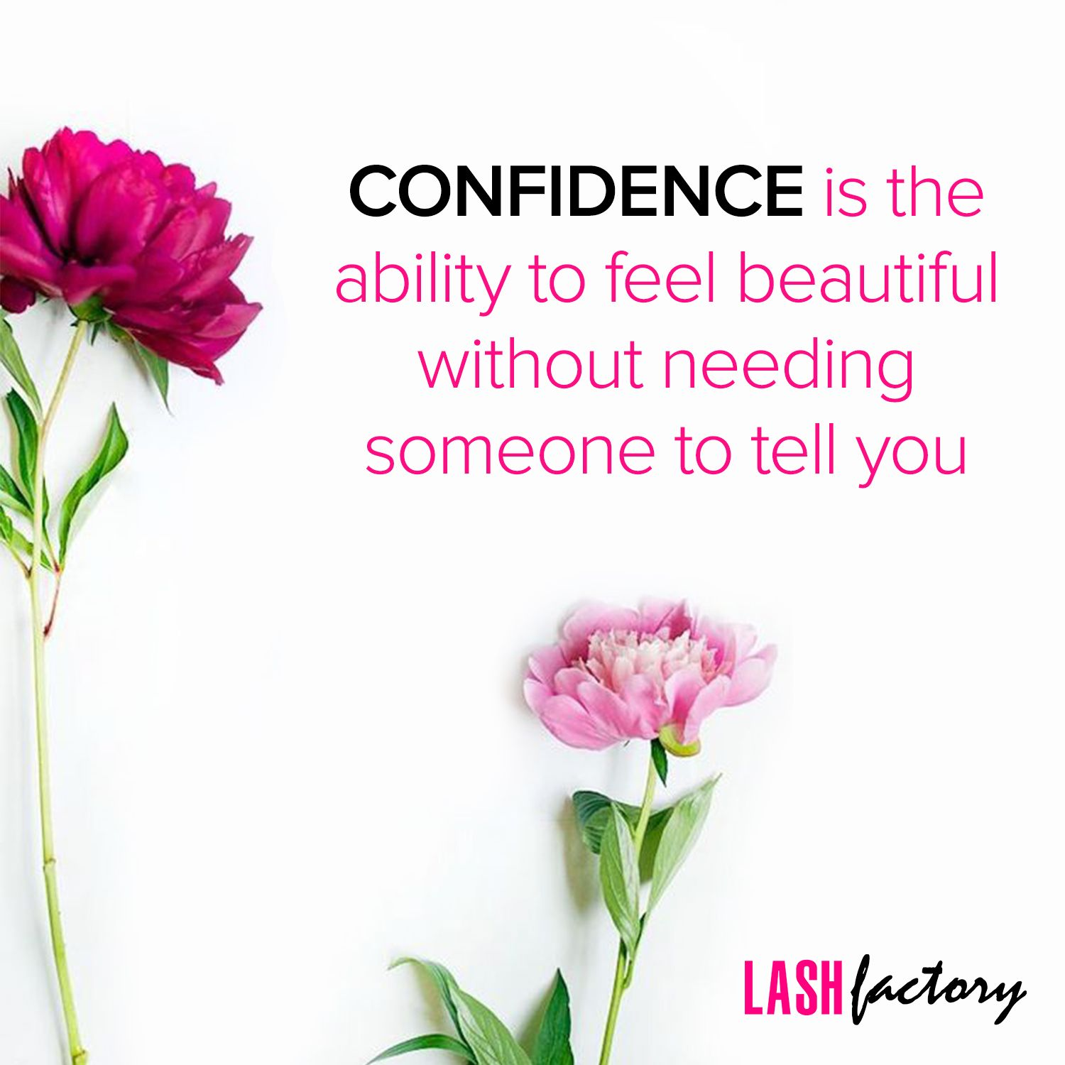 Confidence is the ability to feel beautiful lash factory confidence is the ability to feel beautiful lash factory beauty quote women empowerment dhlflorist Images