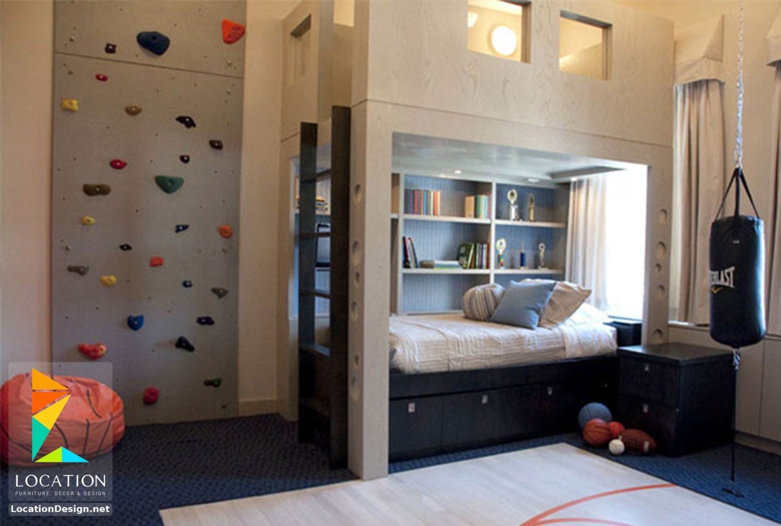 غرف نوم اولاد شباب أحدث موديلات غرف شبابي مودرن لوكشين ديزين نت Boys Room Design Boys Dorm Room Kids Room Design