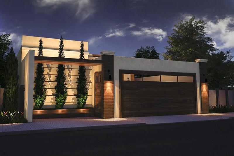 Modelos de fachadas de casas bonitas simples populares for Modelos de fachadas de casas