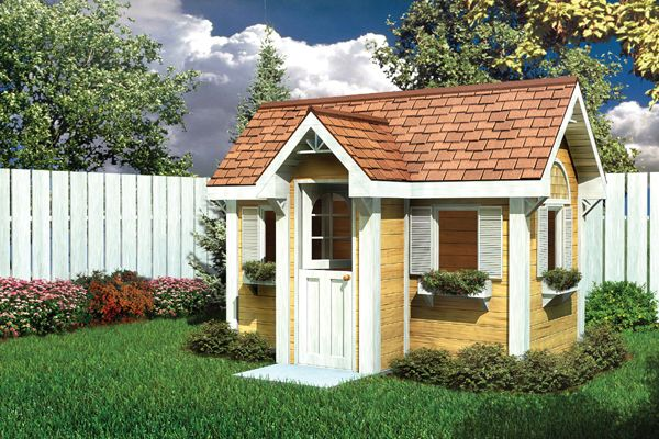 Playhouse Plans On Pinterest Storage Sheds Play