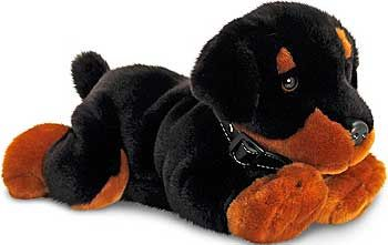 Cuddly Dogs Plush Toys Rottweiler Puppy Dog Keel