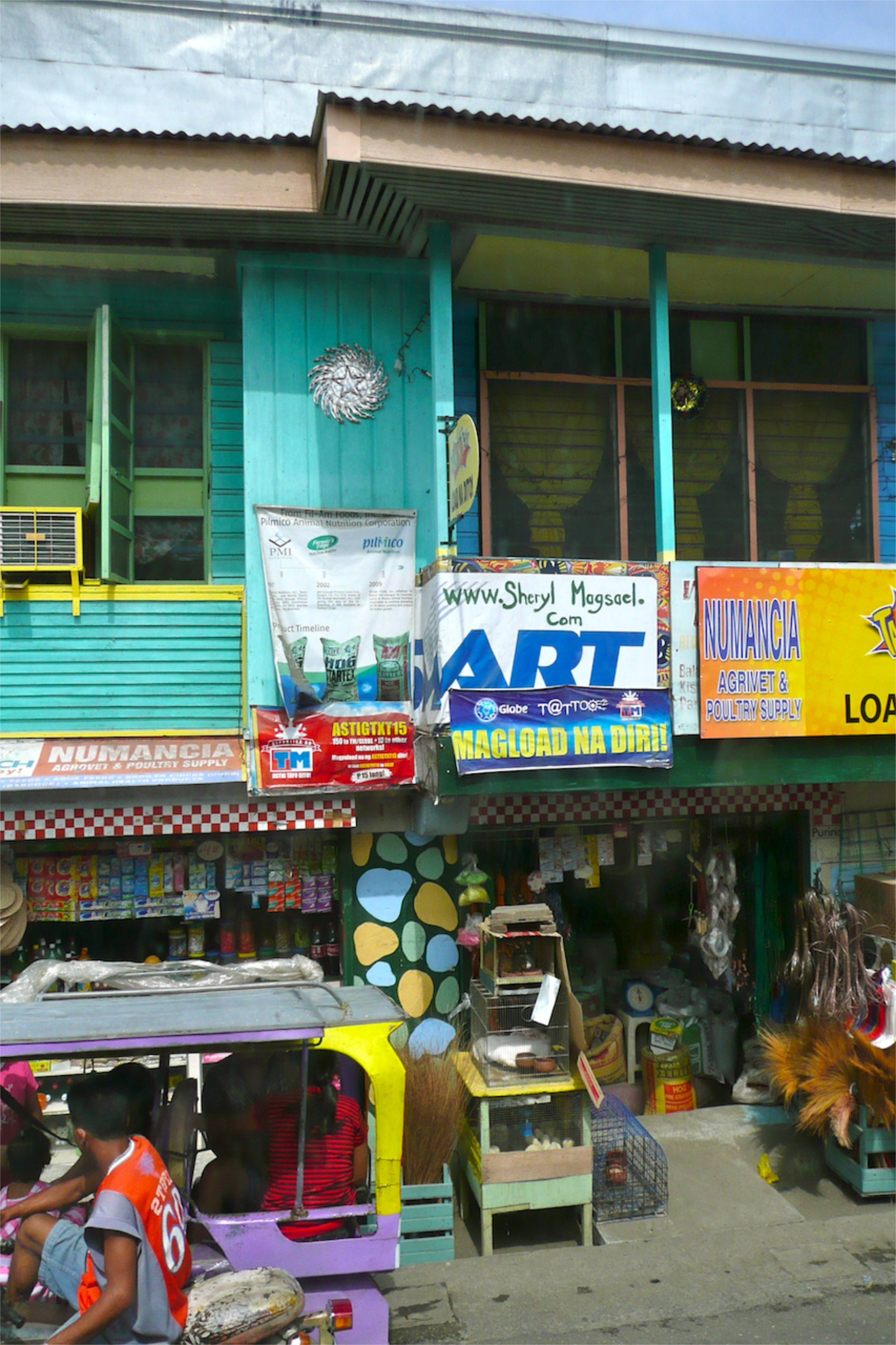 Local shops along the road in the Philippines